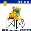 JS500 small cement mixer designed by Xinfeng concrete mixers supplier is the best cement mixer machine - Concerete Mixers
