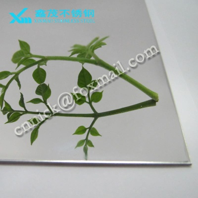 Customized SUS304 0.6mm stainless steel sheet with mirror finish for decoration Made in China - XMN-M003