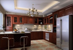 YALIG Solid Wood Kitchen Cabinet - YLG-SC