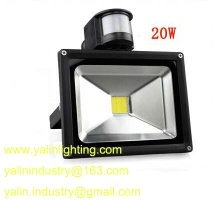 motion detector LED floodlight, PIR sensor LED flood light, 20W outdoor lamp - YL-FL020-GY