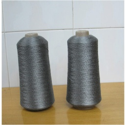 Pure metal fiber spun yarn for ribbon casing pipe fabrics - XTAA075