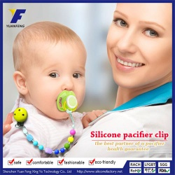 fda approved silicone pacifier clip/baby pacifier chain clip - YF