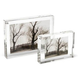 k9 blank Crystal Cube Photo Frame with Stainless Steel Holder for 3D engraved