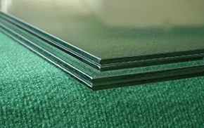 12.76mm color decorated building tempered laminated glass