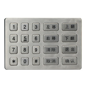 5x4 Matrix Vandalproof Rugged Keypad For CNC Machine - B761
