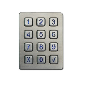 CE approved Standalone RFID metal numeric Door Keypad for access control - B880