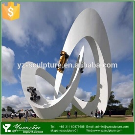 outdoor large stainless steel sculpture - 001