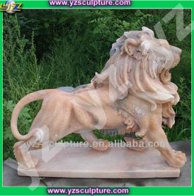 Natural sunset red marble Animal sculpture - 004