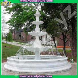 New design white marble outdoor water fountain - 005