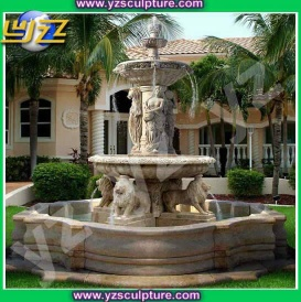 Hot sale large marble garden water fountain - 006