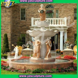 large marble garden water fountain - 007