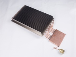 Nickel Plated Aluminum Heat Sink Plus Water Cooling Copper Tube - 22