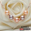 Sliver Five freshwater pearl lulutong pendant - 15
