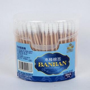 300PCS spring-box wooden stick cotton swab - 245688
