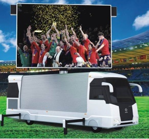 Mobile LED Trailer With HD Full Color Display