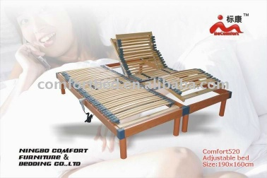 Slat electric adjustable bed