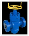 Well Head valves according to standard API 6A and sizes 2 1/16, to7 1/16 and used for pressures 3000 and 5000 (Psi) . - Well Head valves acc