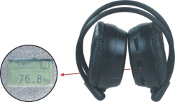 C-2008s c-188s educational wireless headphone/education headphone with fm radio,LCD display