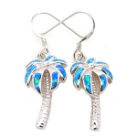 925 sterling silver opal palm tree earring - 220P0372