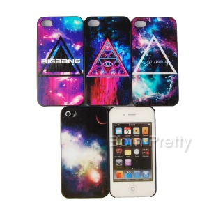 1pc Hard Case Cover For IPhone4/4S/5 Samsung Galaxy S4 Fashion Galactic Painting Design - 7210