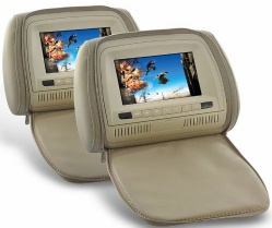 Dropship Headrest Monitor DVD Player with Remote and Gaming System - Q20730