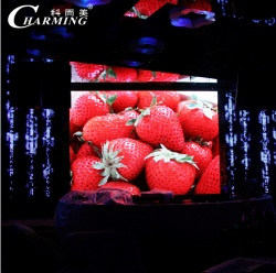 indoor slim P5 led screen for mobile rental