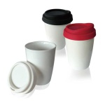 250ml double wall procelain mug