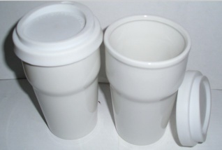 300ml Double wall ceramic mug