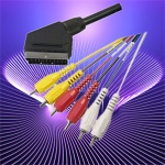 scart plug to 6rca plugs - scart cable