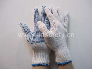 blue PVC Dots Glove - DKP110