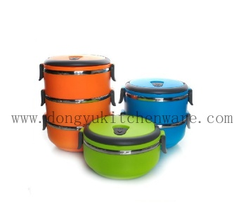 Stainless Steel Food Warmer Lunch Box for Export - DY-B014