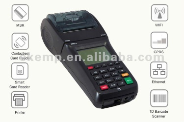 linux mobile card payment terminal for market with barcode reader/thermal printer - EP370