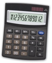 12 digits desk-top dual power calculator - Calculator