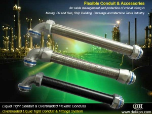 braided flexible metal conduit for petrochemical industry electric wirings