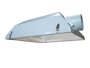 Air cooled glass flip grow light reflector 6-inch - GR005