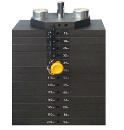 ASSEMBLY, WEIGHT STACK, 215 LBS - WT10012
