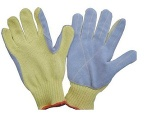 Kevlar Cow leather sewn Anti Cut Gloves - KAC-205