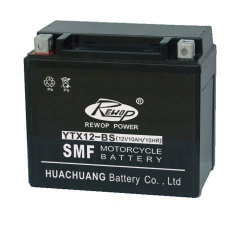 Sealed maintance free motorycle battery, rechargeable lead acid battery, scooter battery - YTX12-BS