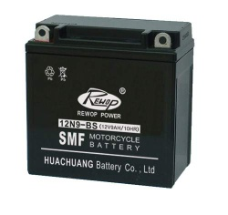 Rechargeable lead acid motorcycle battery,scooter battery - 12N9-BS