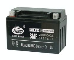 Factory activated motorcycle battery, scooter battery, storage battery - YTX9-BS
