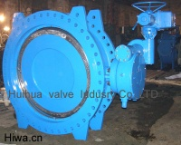 double flange double eccentric type butterfly valve - flange butterfly