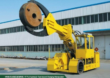 Full-Hydraulic Tyre-Bound Charging Manipulator(0.6T~20T) - chargingmanipulator2