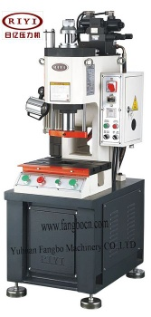 hydraulic press with single column equiped infrared - hydraulic press