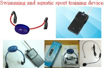 Bone conduction wireless gadget for swimming teaching and learining