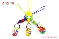 Doll Mobile Phone Charm - 10030