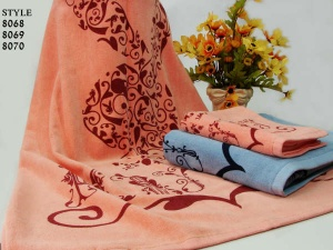 cotton yarn dyed jacquard bar towels - TT002