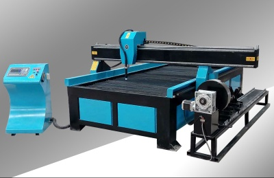 3 Axis CNC Plasma Cutting Machine with Rotary Device for Steel Plate and Pipe - JSP-1530C