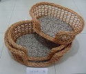willow pet basket - pet basket