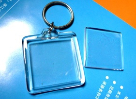Blank Square Acrylic Keychain 2