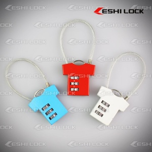 Flexible Cable Combination Lock - Combination Lock